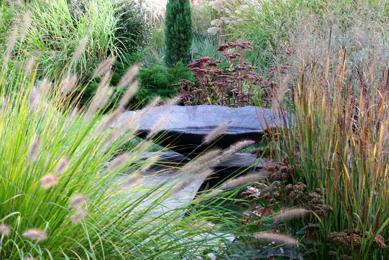 Vasque au jardin contemporain - Jardin contemporain photos ...