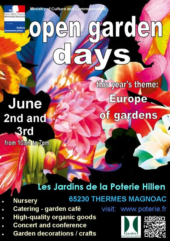 open garden days in the gardens of pottery Hillen